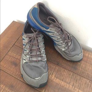 Men's 11.5 Merrell gray and blue shoes (read desc)